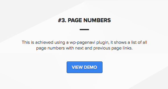 Wordpress theme with ajax pagination