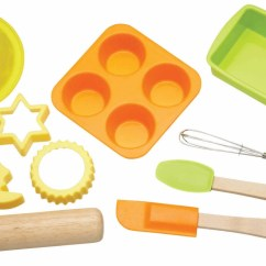 Bakers Racks For Kitchen Aid Toaster Oven Let's Make Childrens 11 Piece Silicone Bakeware Set ...
