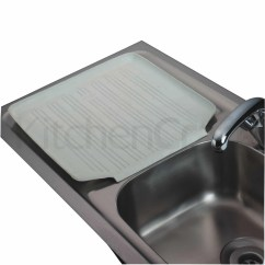Kitchen Draining Board Corner Booth Kitchencraft Rubber Mat Cleaning Accessories Products