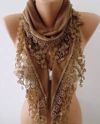 By ElegantScarfStore on Etsy Brown Scarf Shawl Scarf Brown ...