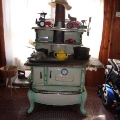 Cast Iron Kitchen Stove Painted Islands Antique Wood Appraisal Instappraisal