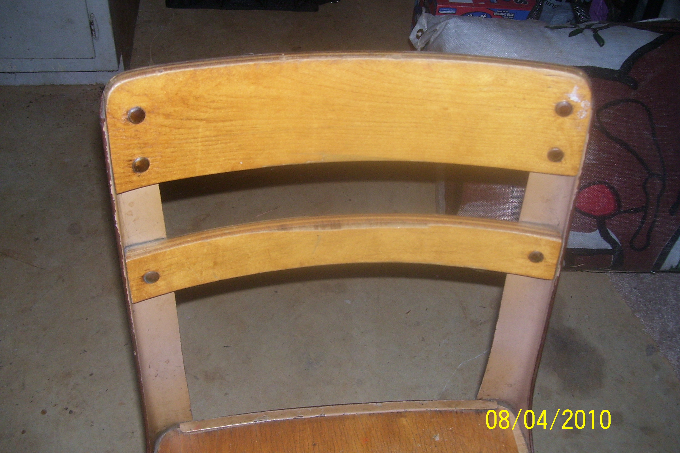 Vintage Childrens School Desk With Attached Chair Antique