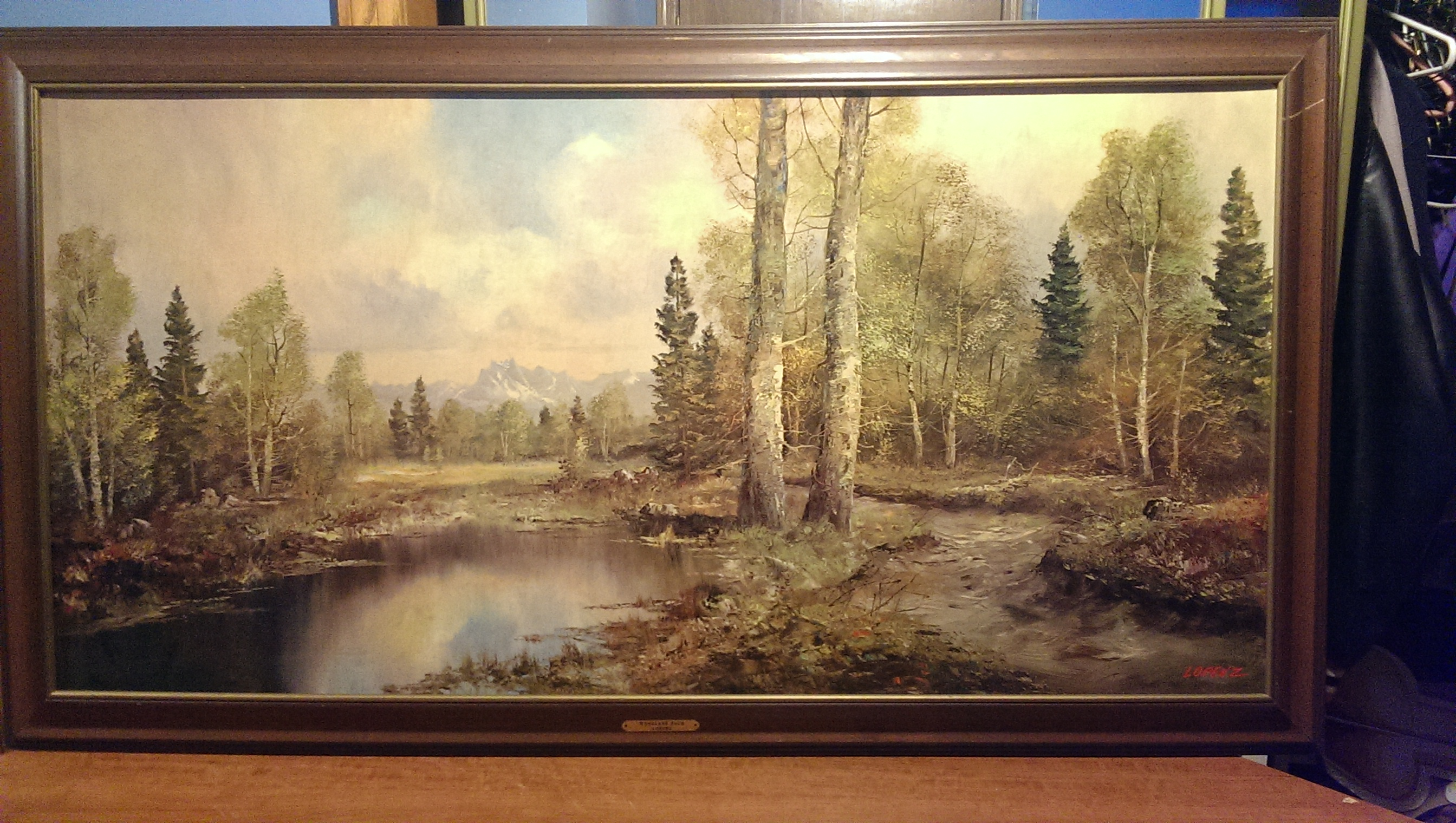 Lorenz Woodland Path Painting Antique Appraisal
