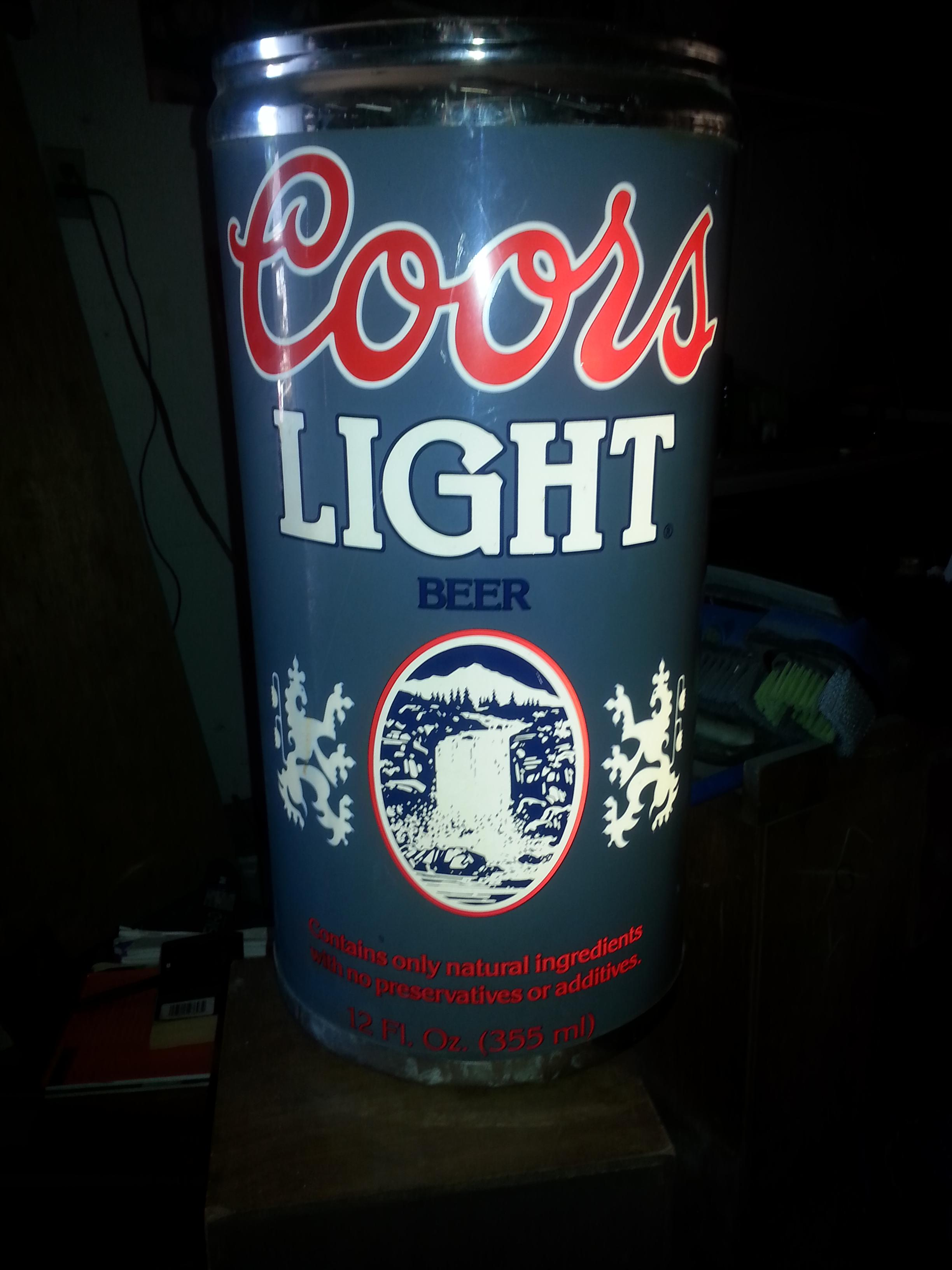 coors light chair yellow accent target vintage electric bar sign antique appraisal