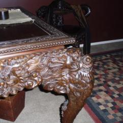 Antique Chinese Dragon Chair Patio Chaise Lounge Chairs Under 100 Ancient Hand Carved Wood Table With Removable Top And Hidden Drawers Unusual Matching