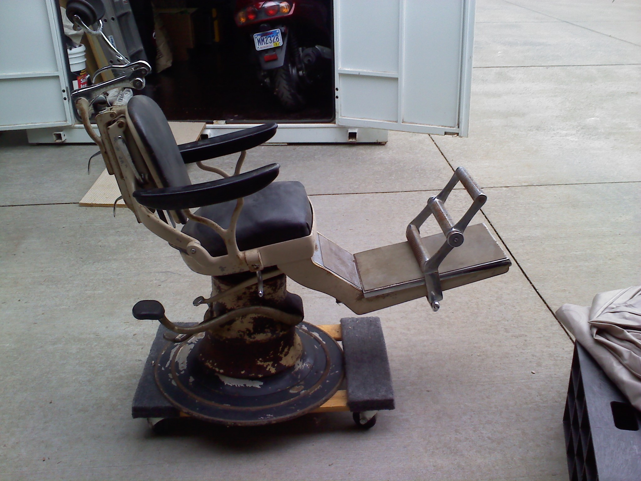 vintage dentist chair sling outdoor antique dental appraisal instappraisal