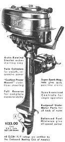 1947 5.5hp Elgin outboard motor antique appraisal