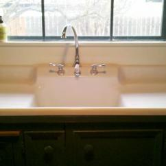 Farmhouse Kitchen Sink For Sale Garden Window Lowes 1910 Farm With Built-in Backsplash And Double ...