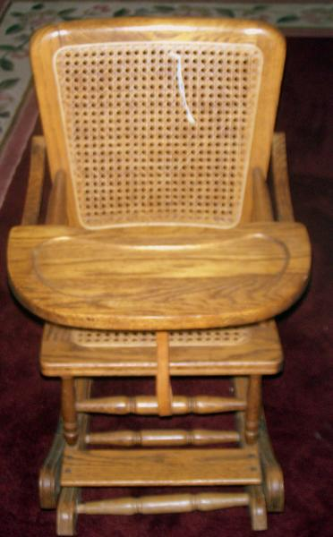 antique high chairs bubble chair with stand rocker appraisal instappraisal