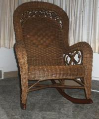 1880's Piel Bros. Wicker Rocking Chair antique appraisal ...