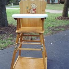 Wood High Chair For Sale Sleeping In A Williamsburg Chair/play Table Antique Appraisal | Instappraisal