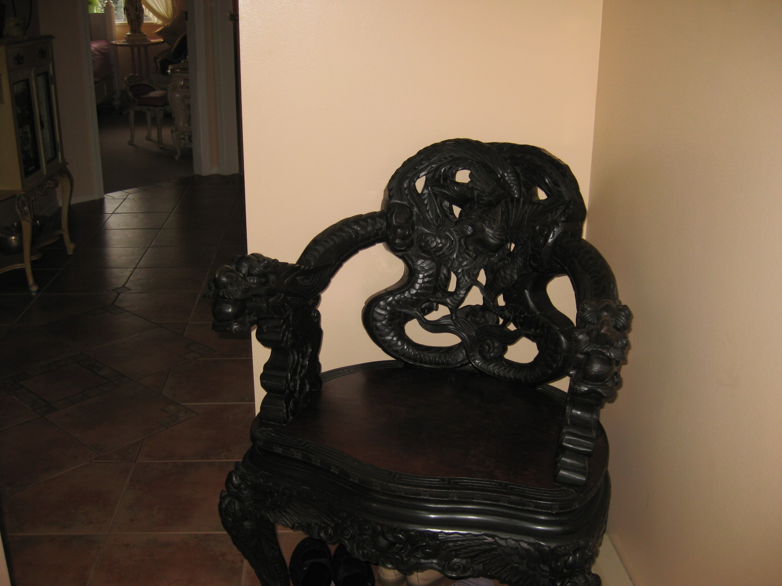 antique chinese dragon chair navy covers wedding appraisal instappraisal