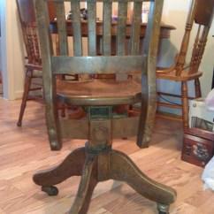 Desk Chair Swivel No Wheels Adec Performer Parts Wooden Antique Appraisal | Instappraisal