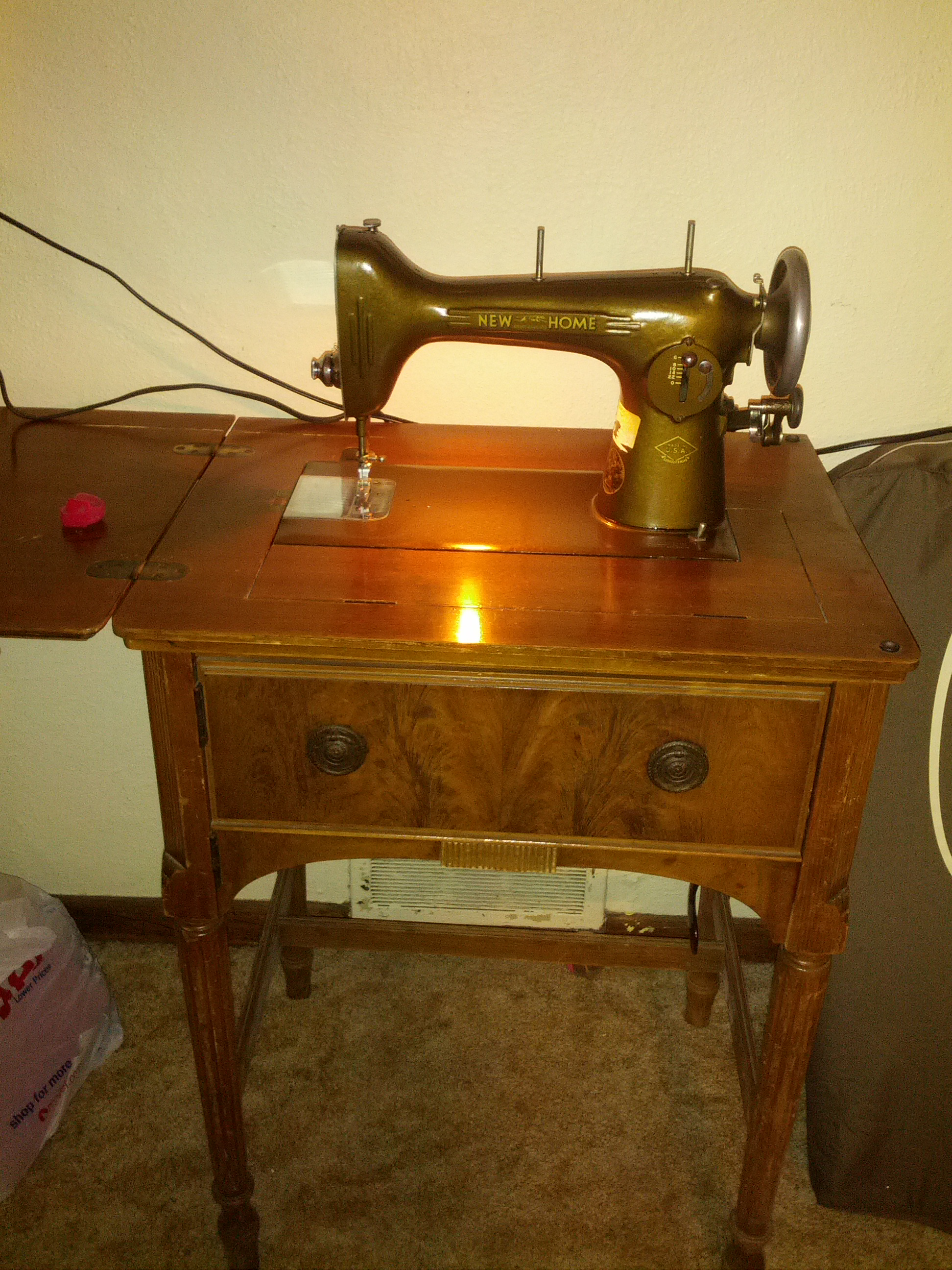Vintage New Home Sewing Machine : vintage, sewing, machine, Sewing, Machine