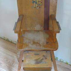 Antique High Chairs Grain Sack Chair Vintage By Williamsberg Factory Inc Williamsburg Ohio