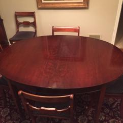 Drexel Heritage Chairs Parson Chair Slip Covers Vintage Mahogany Dining Room Table And Travis Court Collection