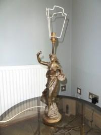 Roses Tremieres Bronze Lamp by Auguste Moreau antique ...