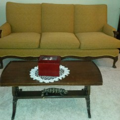 Cardboard Sofa New Leaf Grey Fabric Corner Next Vintage Duncan Phyfe Chair Coffee Table Hutch