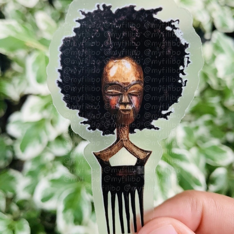 Sticker Mask Selection Afro Afro By Myfilibo Drawings