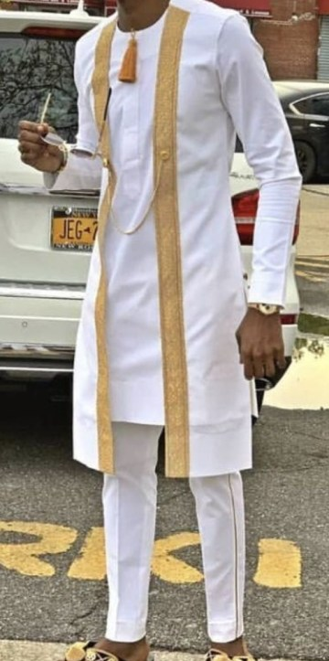 African Men kaftan/ latest african men clothing/ wedding outfit/ tradit - Afrikrea
