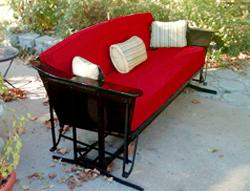 custom glider cushions