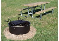 Medium Drop Grate Fire Ring | Commercial Site Furnishings