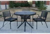 4-Piece Expanded Metal Canteen Patio Set | Commercial Site ...