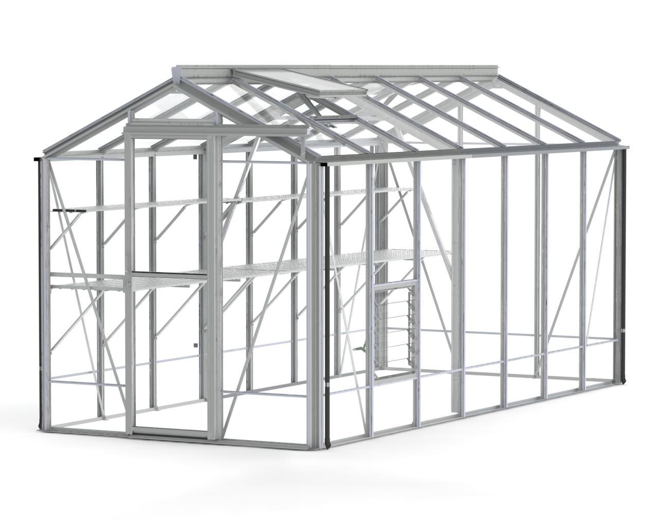 Regent Plain Aluminium Greenhouse (6'5