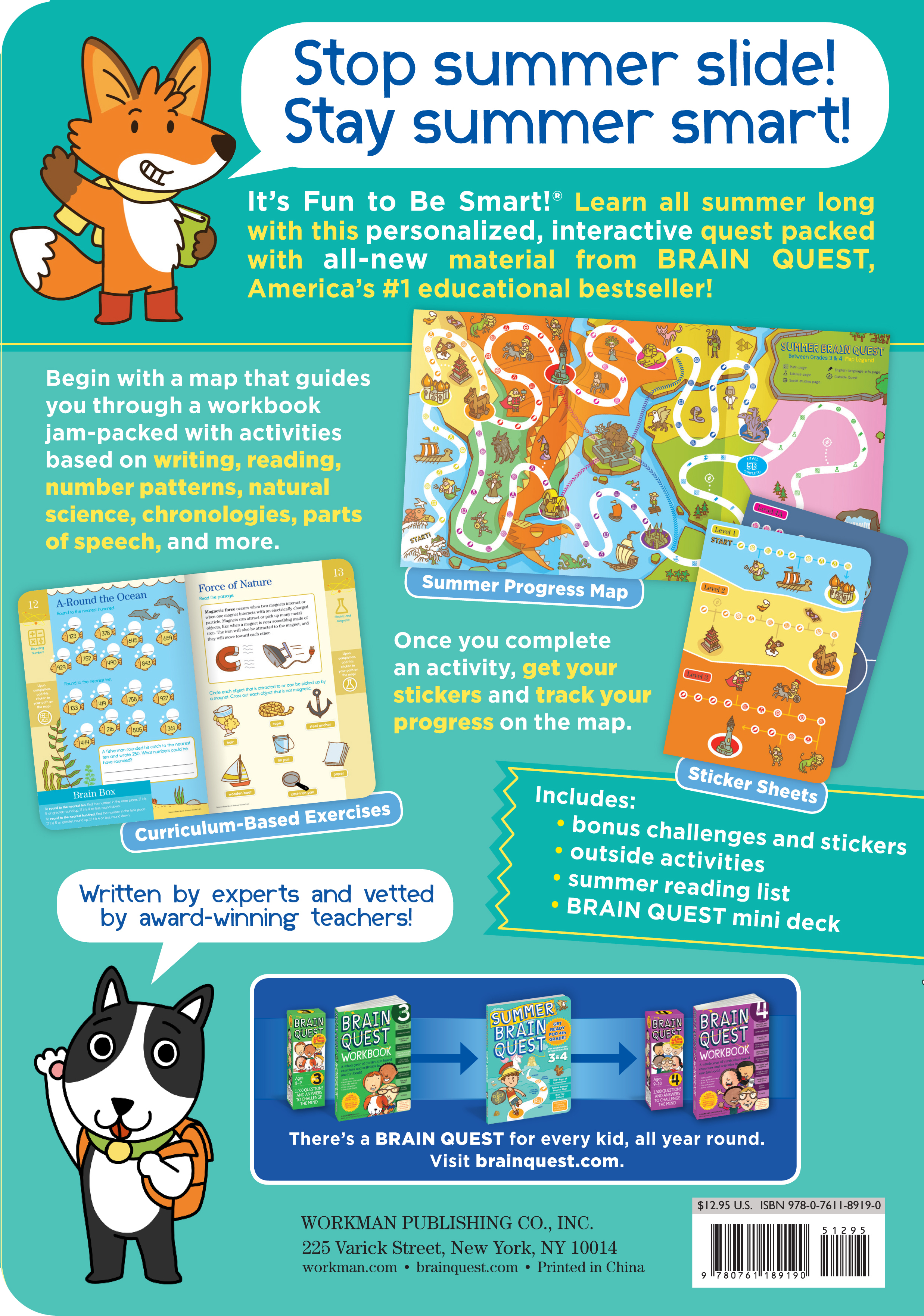 small resolution of Summer Brain Quest: Between Grades 3 \u0026 4 - Workman Publishing