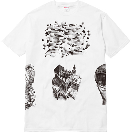 M.C. Escher Collage Tee (White)