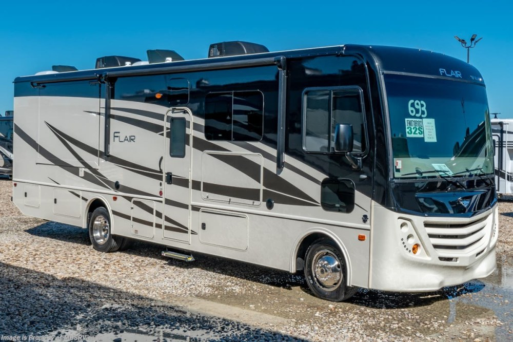 medium resolution of new 2019 fleetwood flair 32s 2 full bath class a rv for sale w theater seat