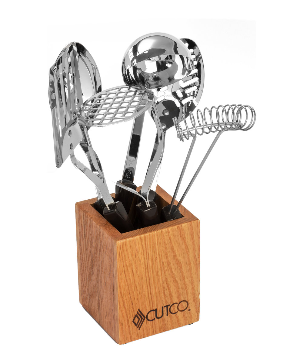 kitchen tool set step stool 6 pc with holder utensils by cutco view large image