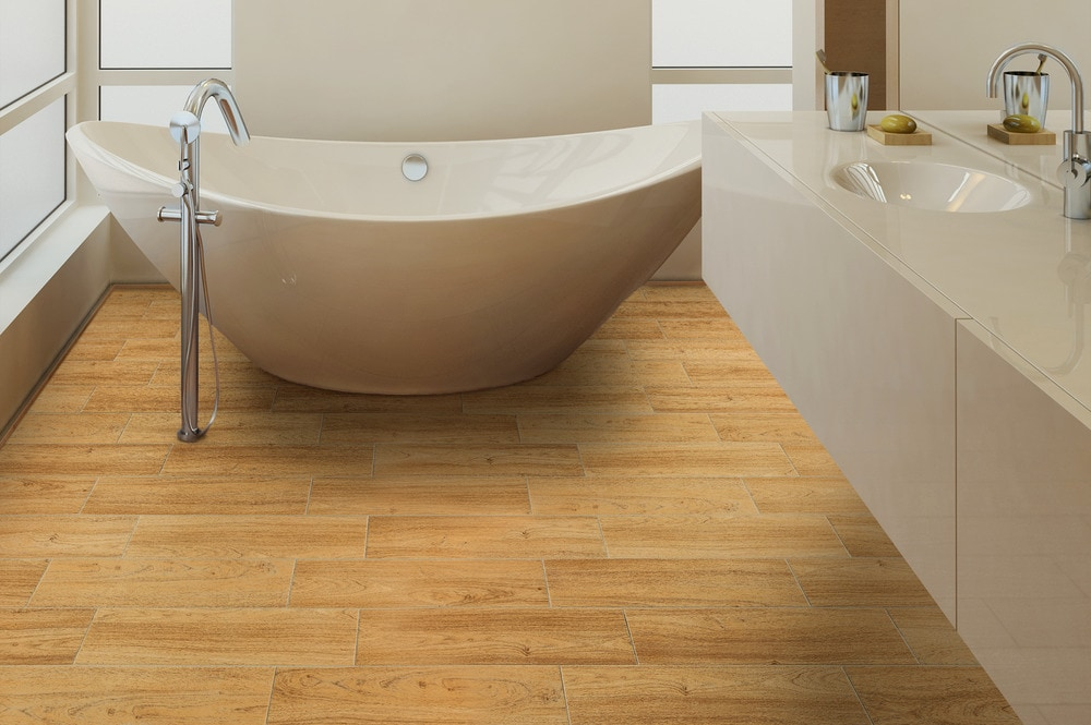 Salerno Ceramic Tile American Wood Series Wheat Oak 6 X24