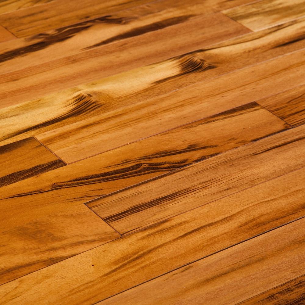 Sonora Floors Exotics Natural  Tigerwood  Clear  5 x 3