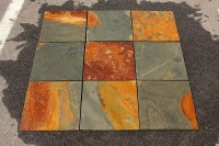 "Cabot Slate Tile California Gold / Natural Cleft / 12""x24"""