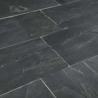 """Roterra Slate Tiles - Carbon Series Indian Black / 12""""x24 ..."""