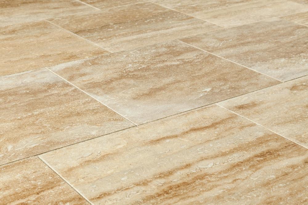Izmir Travertine Tile  Polished Walnut Vein Cut  12x12