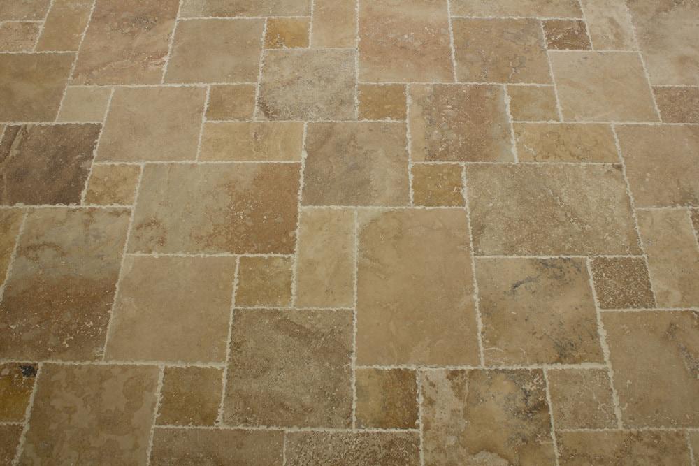travertine tile floor designs