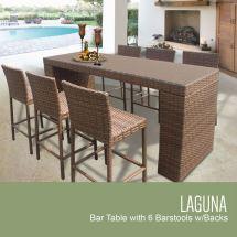 Tk Classics Laguna Collection Bar Table Set With Barstools
