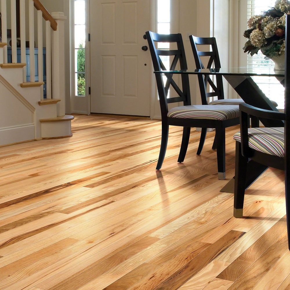 Shaw Floors Solid Hardwood Flooring  Rustic Hickory Collection Caramel  Hickory  2 Common
