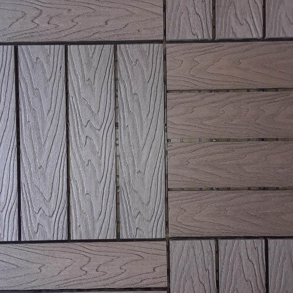 composite wood look interlocking deck tiles