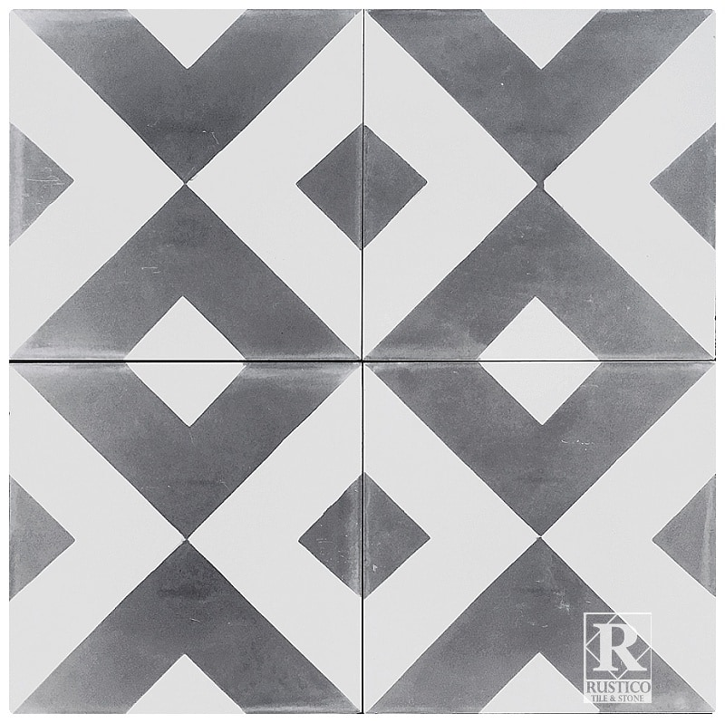 Rustico Tile and Stone Encaustic Cement Tile Diamond