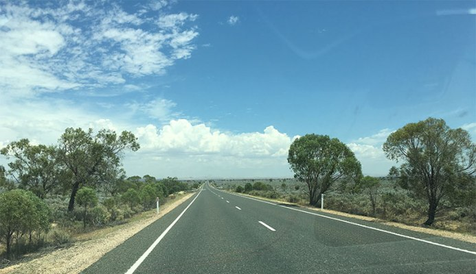 On the road to Wilpena Pound