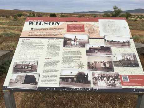 Wilson information board