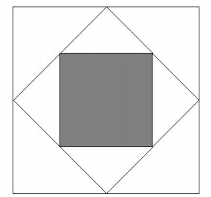 Geometry Problem on Pythagorean Theorem: Square Inception