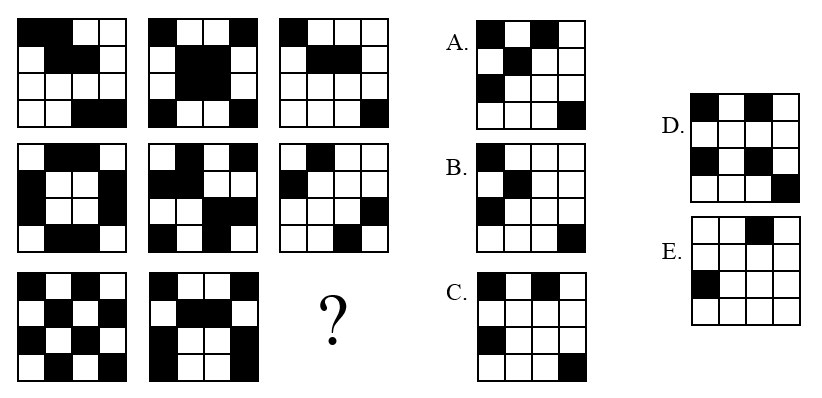 Logic Problem on Recognizing Visual Patterns: What the