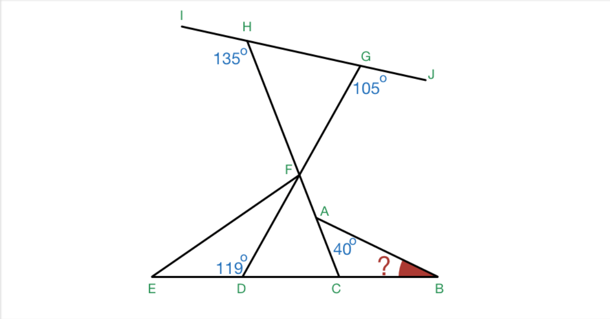 Geometry Problem on Angles and Shapes Warmup: Do The Angle