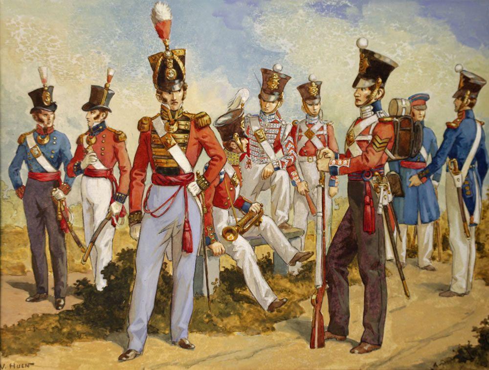 Royal Marines' Uniforms 1815 1850 Art Print NMRN The