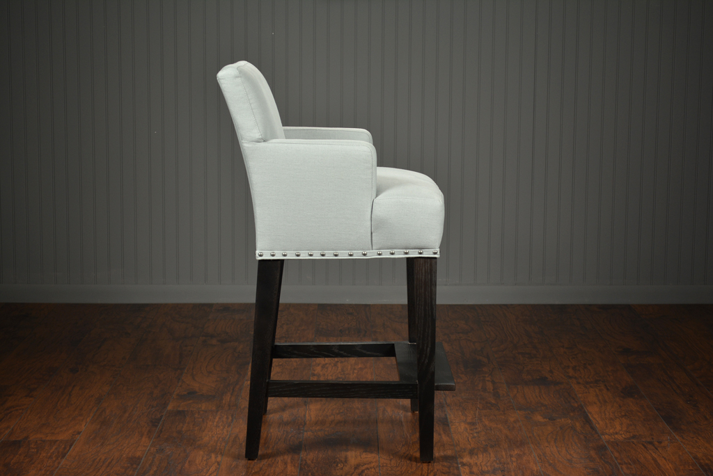 upholstered counter chairs recovering chair cushions with piping bolton stool mecox gardens