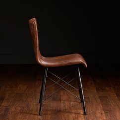 Leather Side Chair How To Make Slipcovers For Folding Metal Chairs Modern Gibbings Mecox Gardens